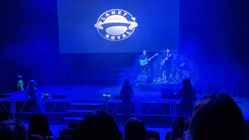 Live band playing in Royale Theatre